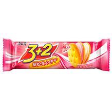康師傅3+2酥松夾心餅干草莓牛奶味118g
