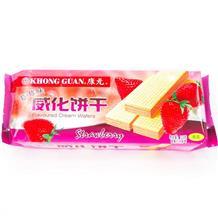 康元草莓味威化饼干115g