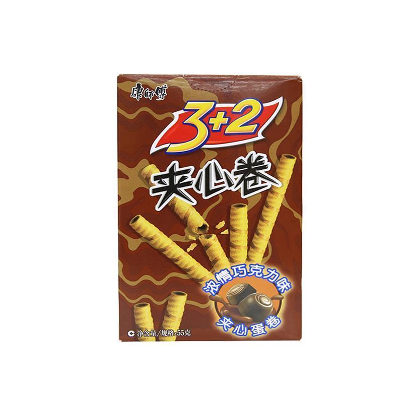康师傅3加2夹心卷浓情巧克力味55g