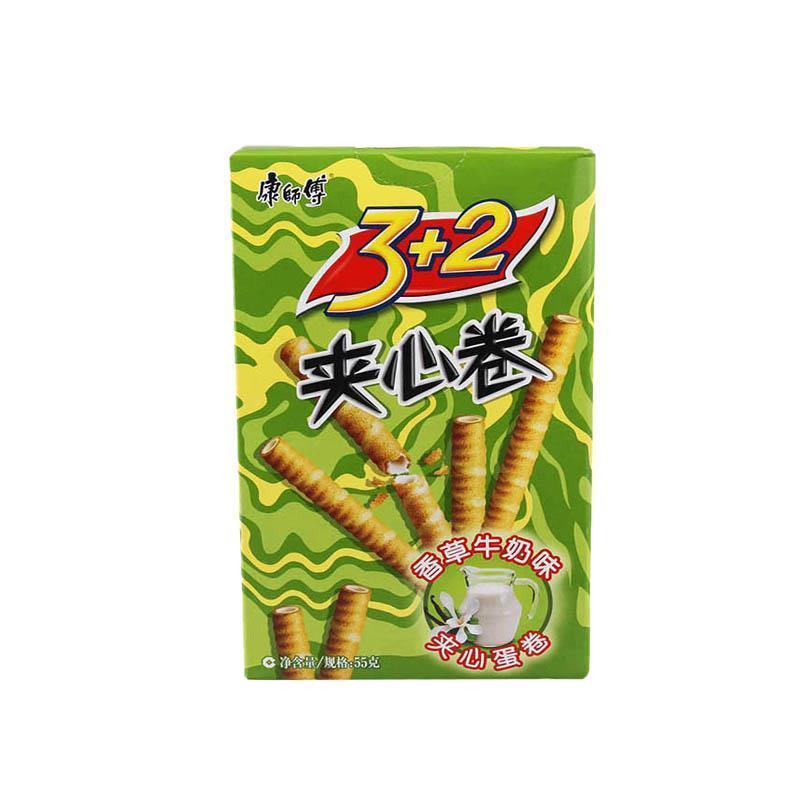 康师傅3加2夹心卷香草牛奶55g