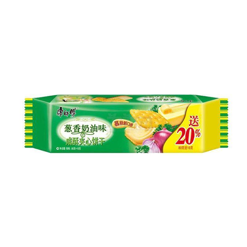 康师傅咸酥夹心饼干葱香奶油口味80g