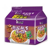 康师傅酸菜牛肉面110g五连包装