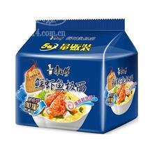 康师傅鲜虾鱼板面105g五连包