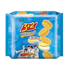 康师傅3+2酥松夹心饼干香草奶油味354g