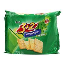 康师傅3+2苏打夹心饼干清新柠檬味375g