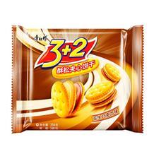 康师傅3+2酥松夹心饼干花生巧克力味354g