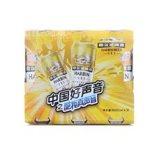 哈尔滨小麦王瓶啤500ml*3