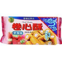徐福记卷心酥草莓味105g