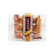友臣经典肉松饼原味208g