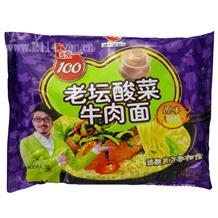 统一100老坛酸菜牛肉面原味121g